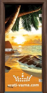 Print G 13 14 Beach sunset T