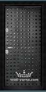 Блиндирана входна врата T-777, цвят Черен гланц