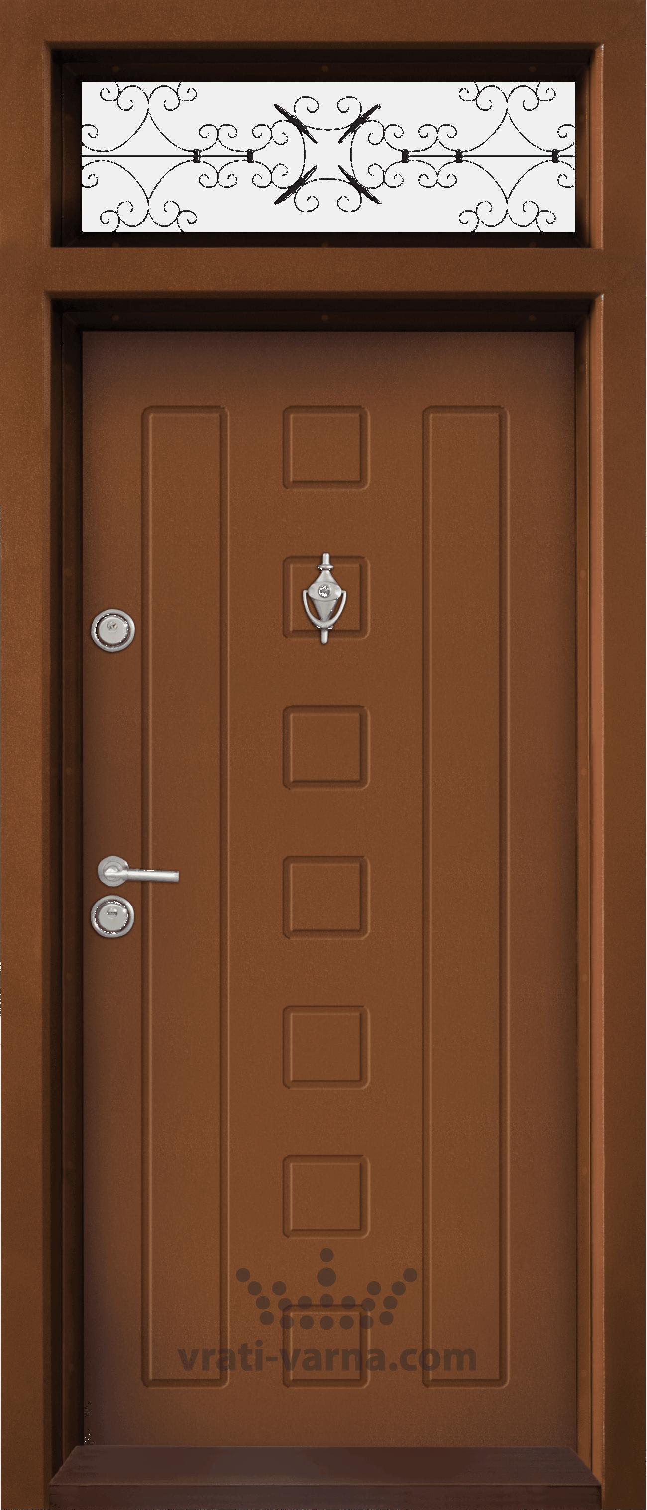 Ednokrila vhodna vrata T 712 tsvyat Zlaten dab