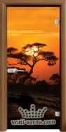 Print G 13 17 African Sunset C