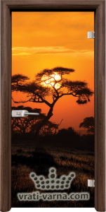 Print G 13 17 African Sunset T