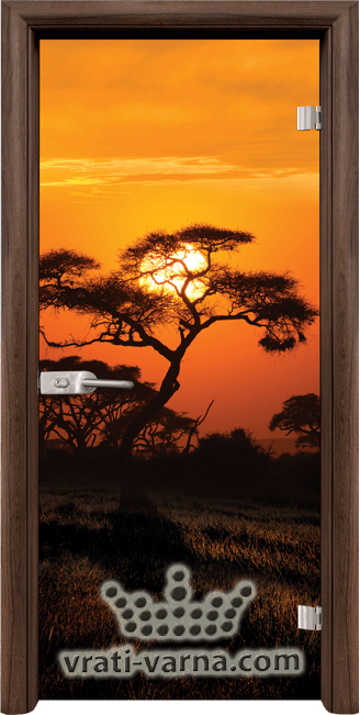 Print G 13 17 African Sunset T