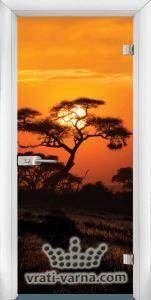 Print G 13 17 African Sunset W